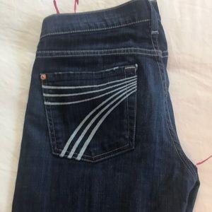 Seven for All Mankind Dojo dark rinse jeans 27.
